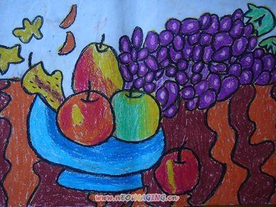 水果拼盘简笔画 水果拼盘图片欣赏 水果拼盘儿童画画作品