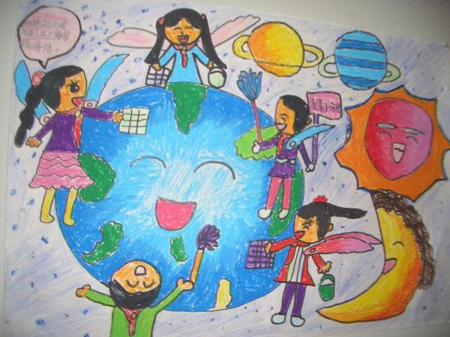 科幻画作品海底世界_大家来环保简笔画_大家来环保图片欣赏_大家来环保儿童画画作品 ...