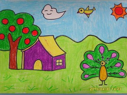 我的理想家园简笔画_我的理想家园图片欣赏