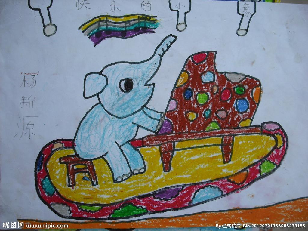 弹钢琴的大象简笔画_弹钢琴的大象图片欣赏