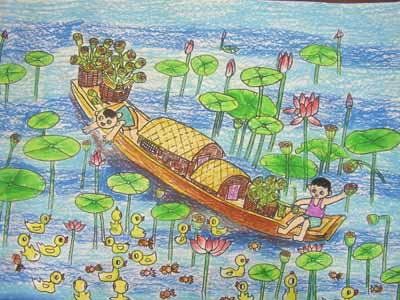 毕加索式夏日简笔画 毕加索式夏日图片欣赏图片