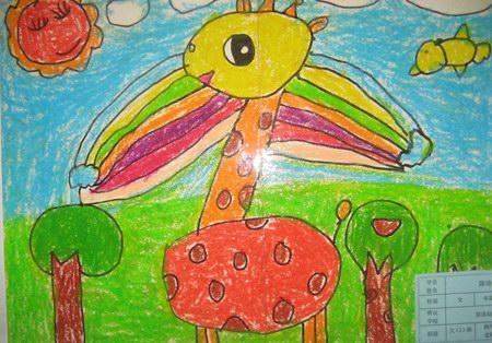 儿童简笔画长颈鹿 - 图-长颈鹿儿童画高清 消防官兵救火的儿童画 消图片