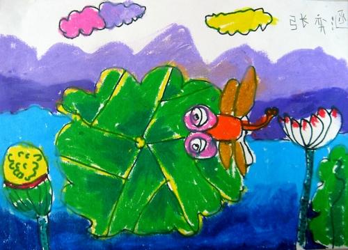 幼儿园夏季荷塘主题墙图片