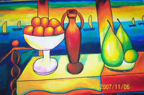 儿童画画 蜡笔画 彩色的图画儿童画画