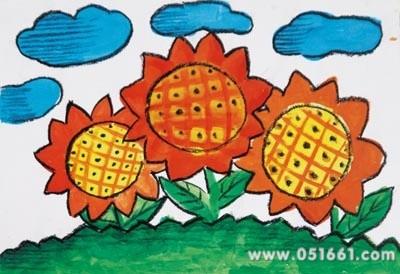 美丽的向日葵简笔画_美丽的向日葵图片欣赏_美丽的-有