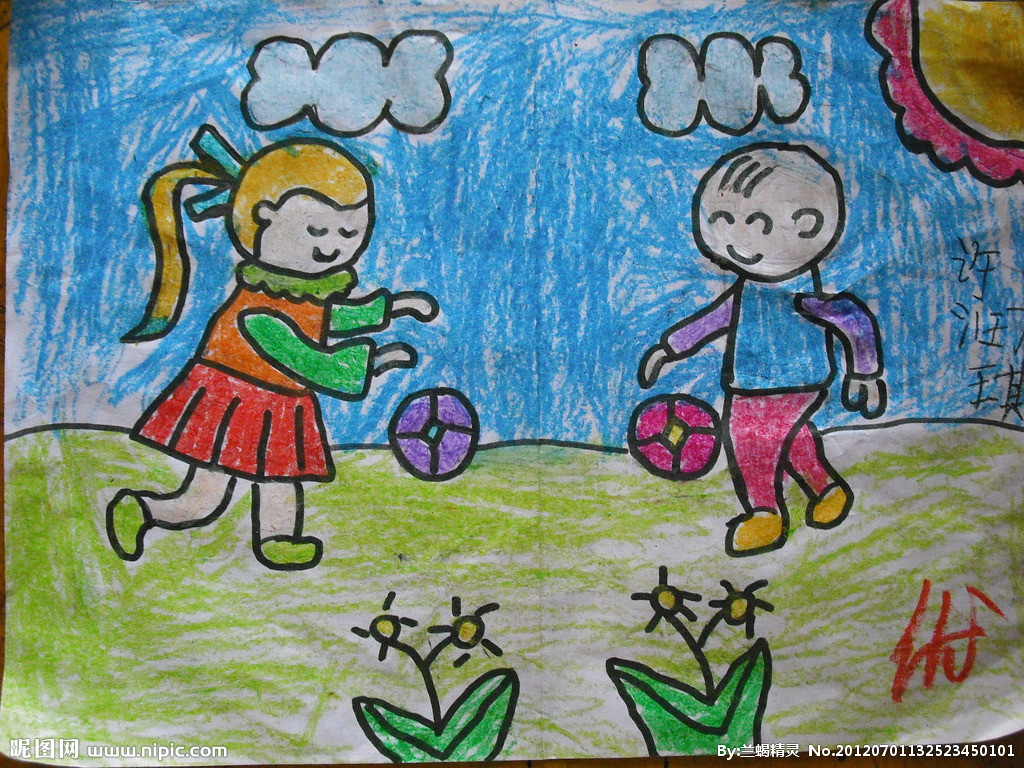儿童蜡笔画画竹子 图解图片