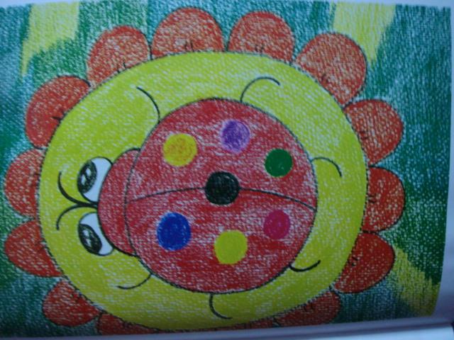 蜡笔画-七星瓢虫