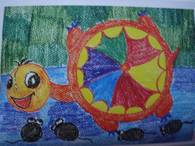 彩色的小乌龟简笔画_彩色的小乌龟图片欣赏