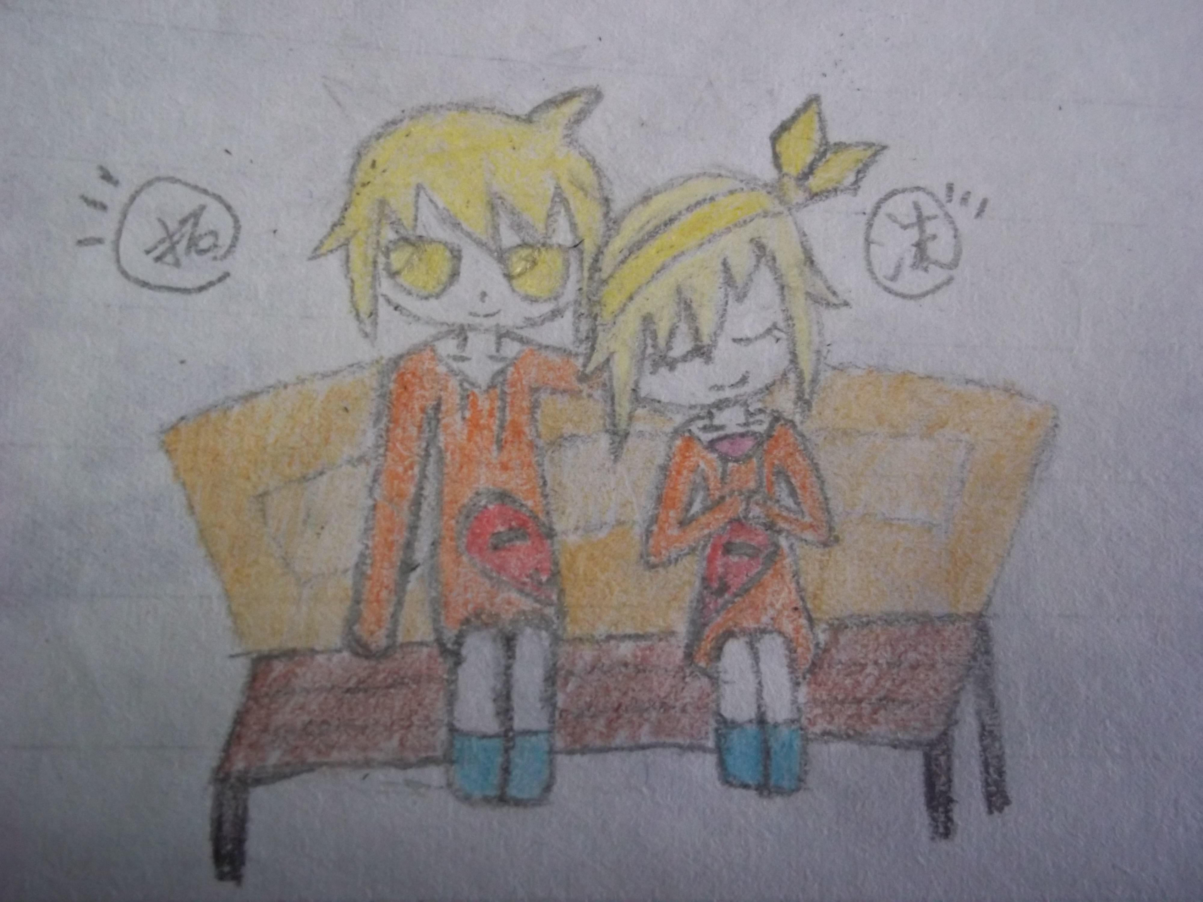 两个人的世界简笔画 两个人的世界图片欣赏 两个人的世界儿童画画作品