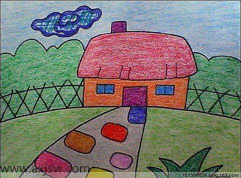 我们的家简笔画 我们的家图片欣赏 我们的家儿童画画作品
