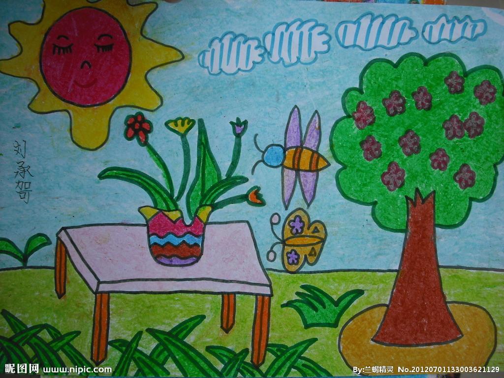 儿童画画 蜡笔画 观察美丽的大自然儿童画画