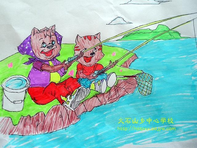 雨后小故事qq动画片_两只小猫在钓鱼简笔画_两只小猫在钓鱼图片欣赏_两只小猫在钓鱼 ...