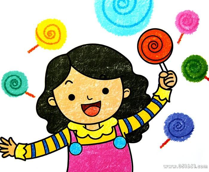 我爱吃棒棒糖简笔画_我爱吃棒棒糖图片欣赏