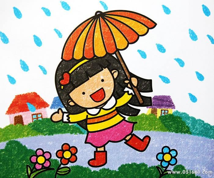 我的小花伞简笔画 我的小花伞图片欣赏 我的小花伞儿童画画作品
