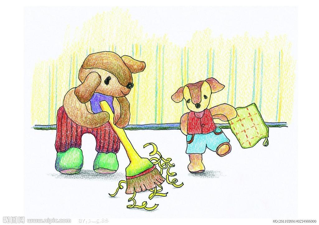 小动物爱环境简笔画_小动物爱环境图片欣赏