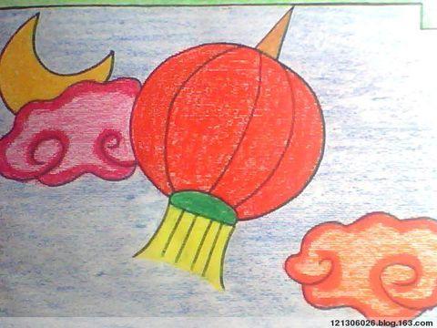 美丽的红灯笼简笔画 美丽的红灯笼图片欣赏 美丽的红灯笼儿童画画作品