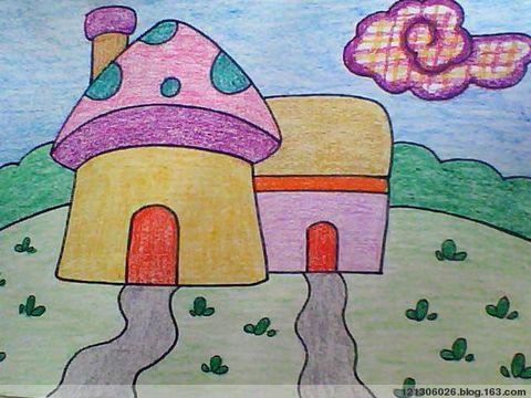 蘑菇小房子简笔画 蘑菇屋简笔画