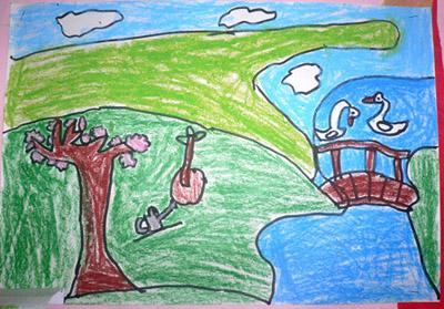 生机勃勃的世界简笔画 生机勃勃的世界图片欣赏 生机勃勃的世界儿童