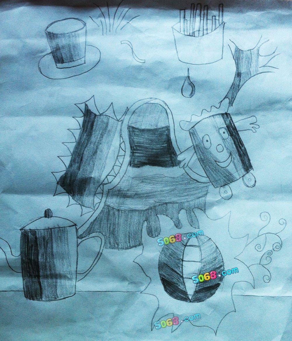 铅笔画-儿童简单铅笔画-梦幻世界