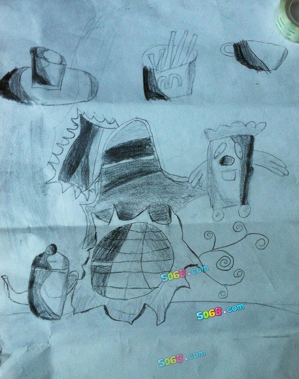 梦幻世界简笔画 梦幻世界图片欣赏 梦幻世界儿童画画作品