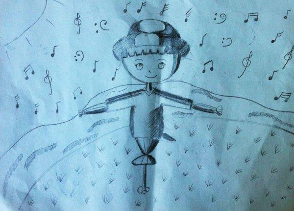 快乐的稻草人简笔画 快乐的稻草人图片欣赏 快乐的稻草人儿童画画作品