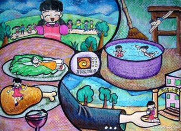 儿童科幻画图片:未来世界图片