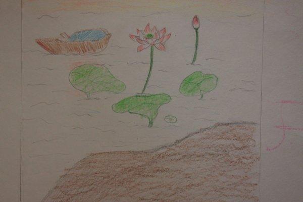 小河流水简笔画 小河流水图片欣赏 小河流水儿童画画作品