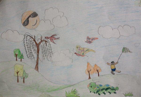 夏天的风简笔画_夏天的风图片欣赏_夏天的风儿童画画