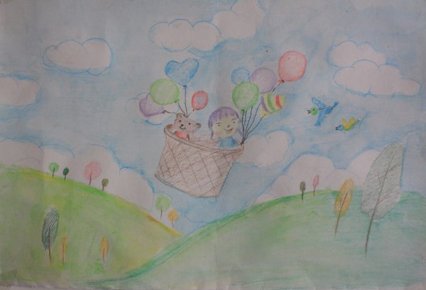 清凉一夏简笔画 清凉一夏图片欣赏 清凉一夏儿童画画作品