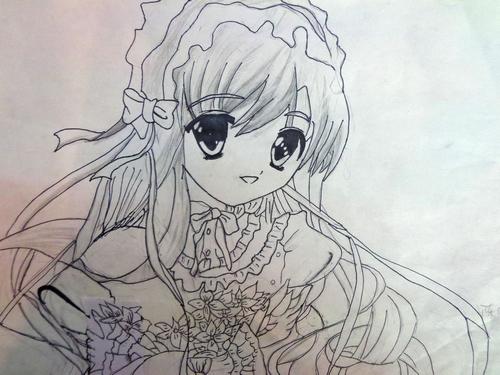 铅笔画之漂亮的女生 -漂亮的女生简笔画 漂亮的女生图片欣赏 漂亮的女