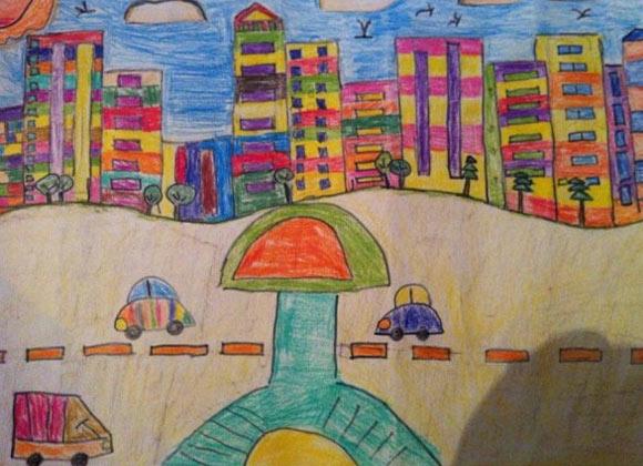 游家乡简笔画_游家乡图片欣赏_游家乡儿童画画作品-有