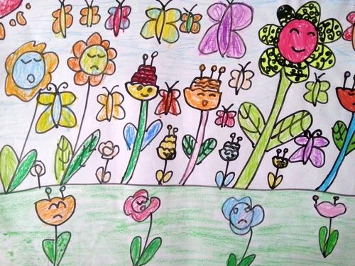 花的世界简笔画 花的世界图片欣赏 花的世界儿童画画作品