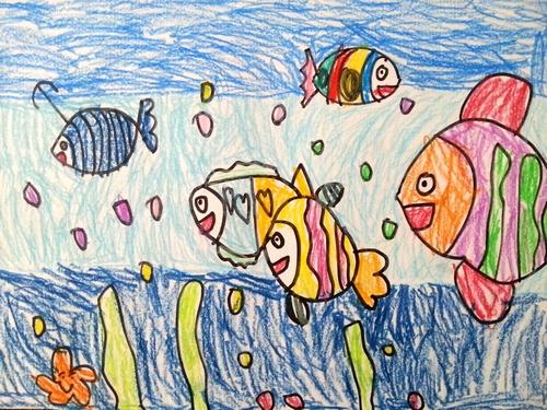 儿童画画 铅笔画 大鱼吃小鱼儿童画画