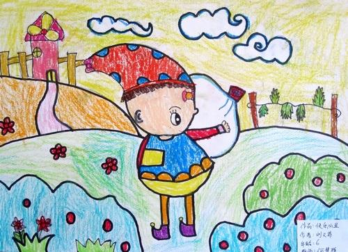 铅笔画-小丑赏风景