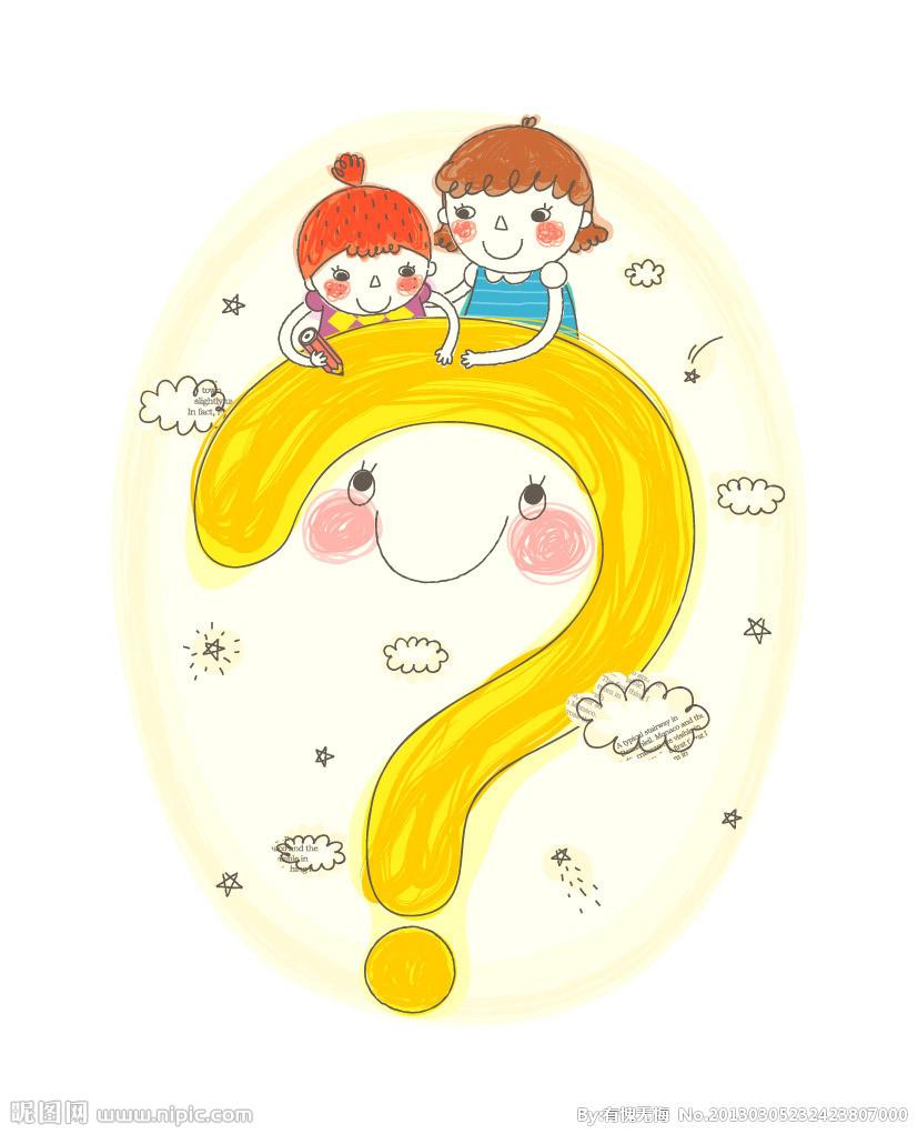 儿童简单水粉画大全-云中有疑问的 小孩 简笔画 云中有疑问的 小孩 图