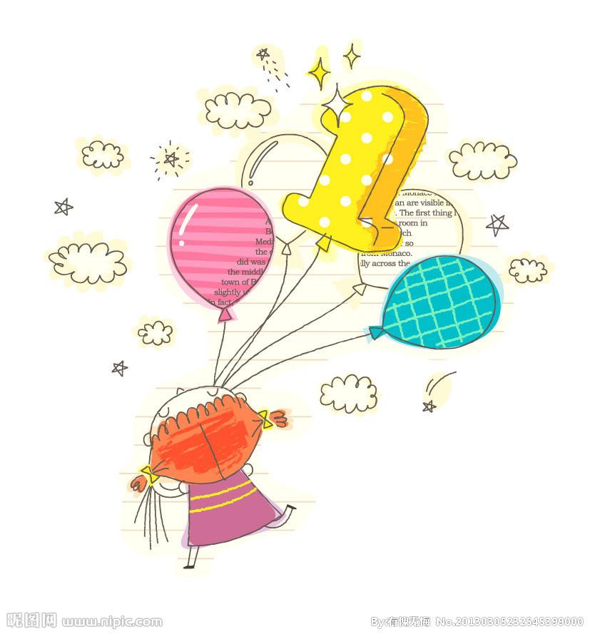 放气球的小女孩简笔画_拿气球的小女孩简笔画