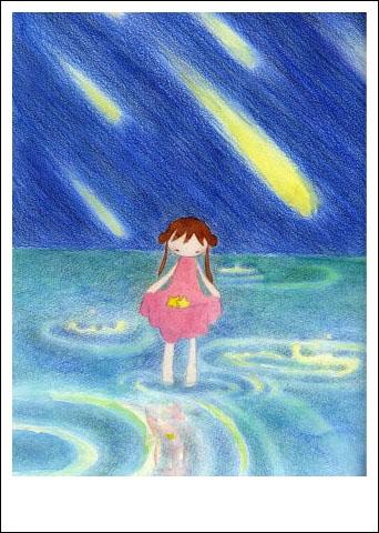 春雨里的小女孩简笔画 春雨里的小女孩图片欣赏 春雨里的小女孩儿童