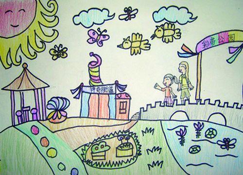 美丽的校园简笔画 美丽的校园图片欣赏 美丽