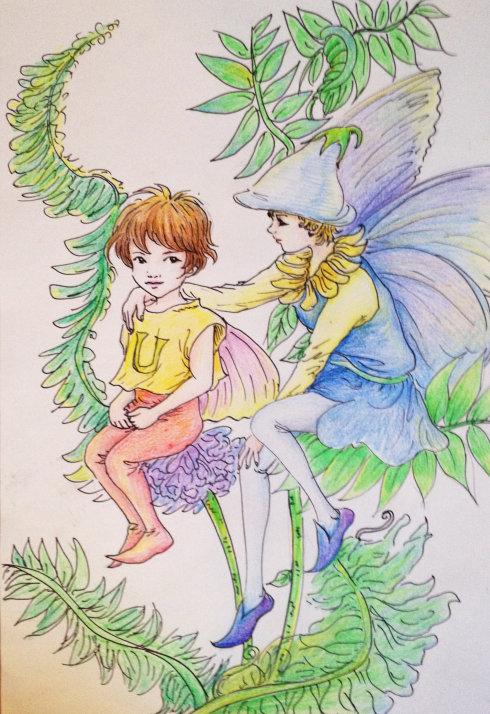 儿童画画 铅笔画 丛林的精灵儿童画画
