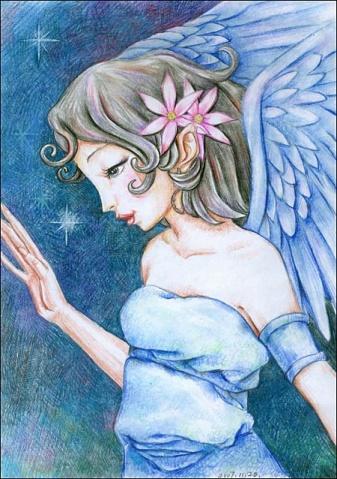 小孩天使图片可爱