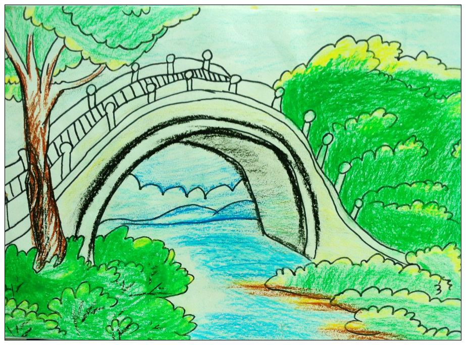 默默无闻的小桥简笔画 默默无闻的小桥图片欣赏 默默无闻的小桥儿童