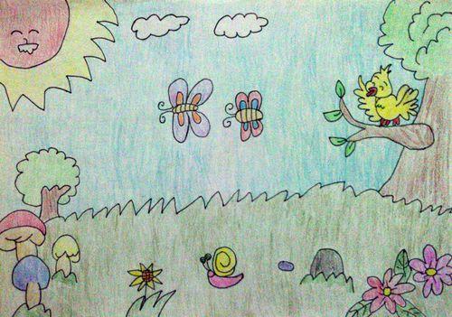 蝴蝶的夏天简笔画_蝴蝶的夏天图片欣赏