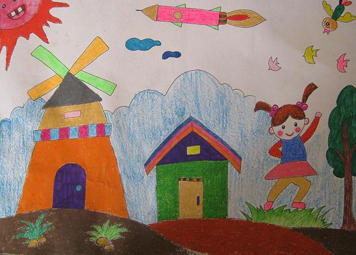 风车转转简笔画_风车转转图片欣赏_风车转转儿童画画