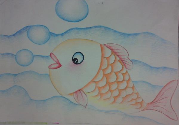 幼儿鱼简笔画彩色