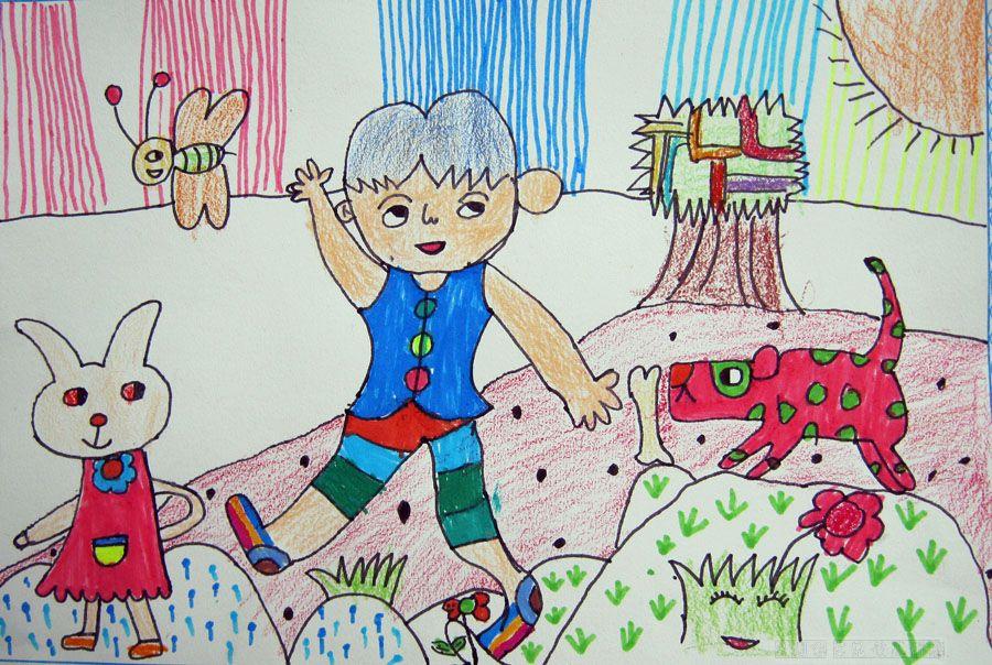 放羊 的小男孩儿 简笔画 放羊 的小男孩儿 图片 欣