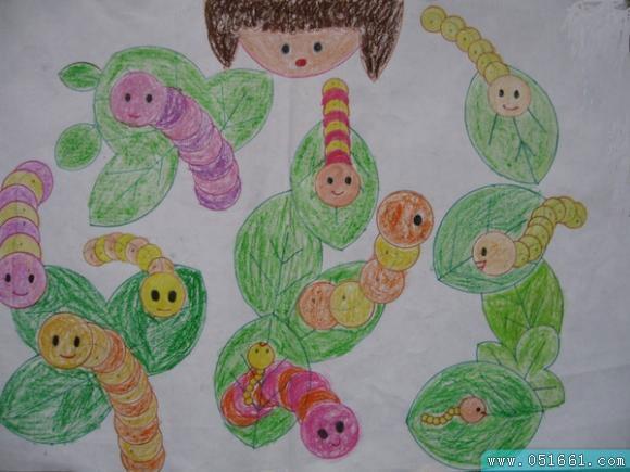 可爱的蚕宝宝简笔画_ 可爱的蚕宝宝图片欣赏_ 可爱的