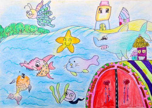 蜡笔画-神奇的海洋世界