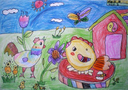 儿童彩色铅笔画 简笔画教程