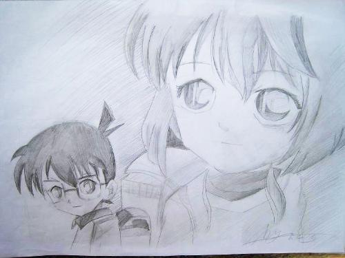 儿童画画 铅笔画 名侦探柯南儿童画画