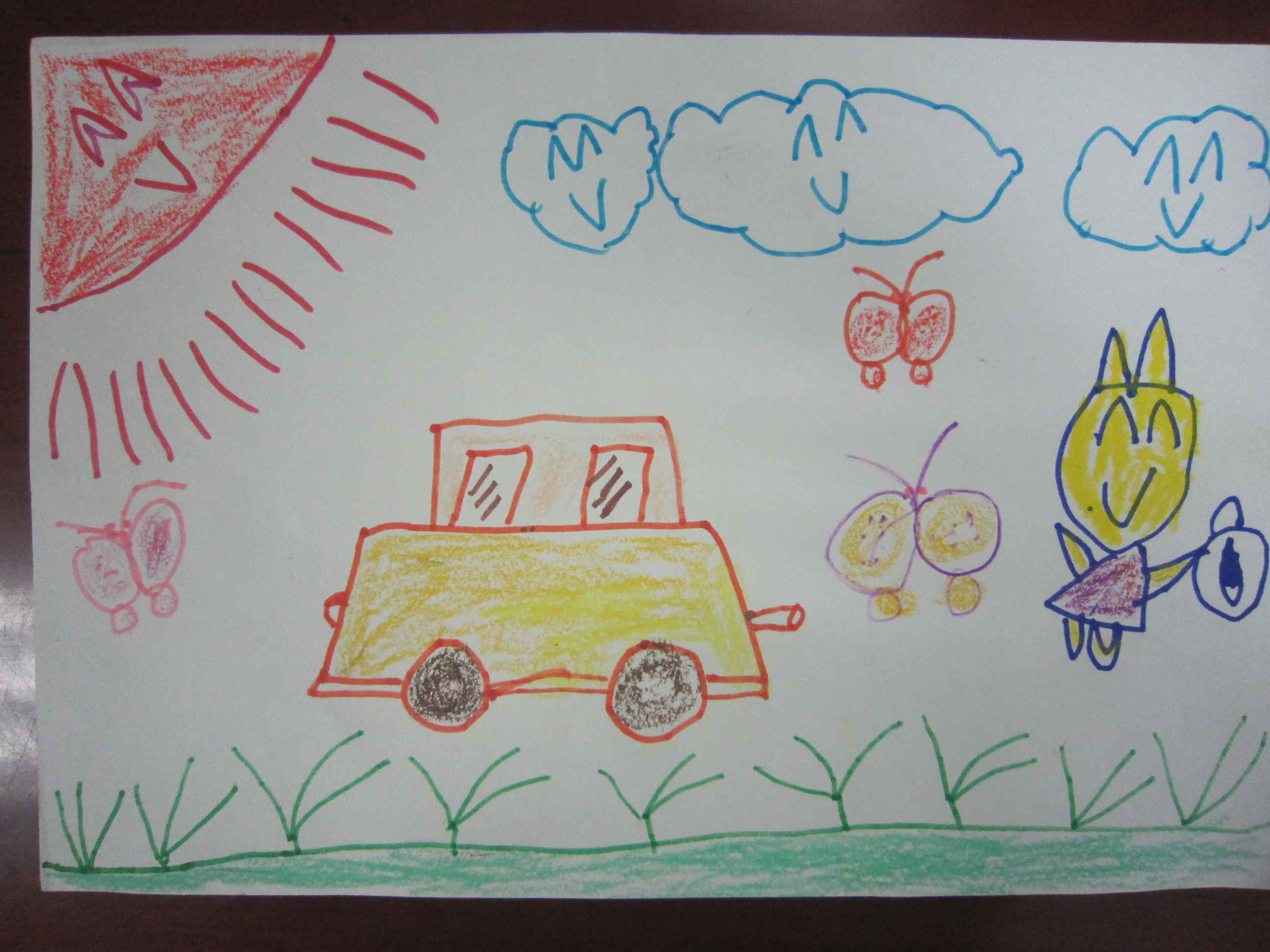 奔跑的小汽车简笔画_奔跑的小汽车图片欣赏